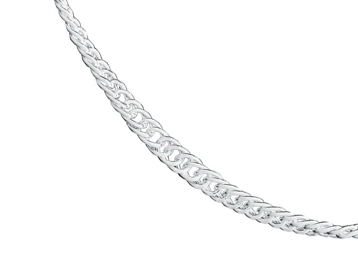 The twist chain is very similar to the flat style where it uses similar links but has a natural twist.  The twist chain is also slightly thinner than the flat chain.