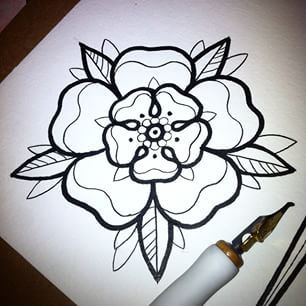 west yorkshire rose tattoo - Google Search