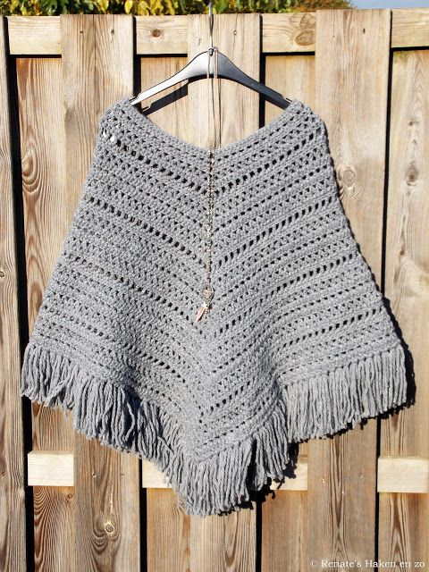 Boho poncho (met link naar patroon / with link to pattern)