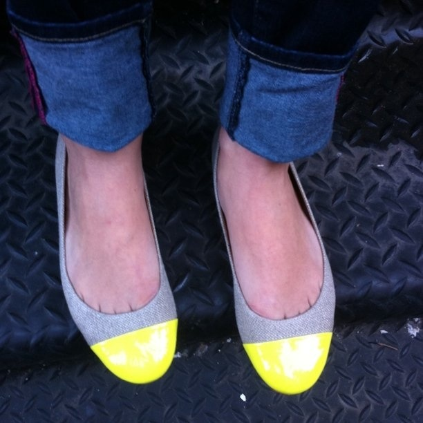 linen shoes with yellow tipsColors Combos, Happy Feet, Ballet Flats, Tipsy Flats, Old Navy, Lemon Yellow, Kate Spade, Dreams Closets, Neon Yellow
