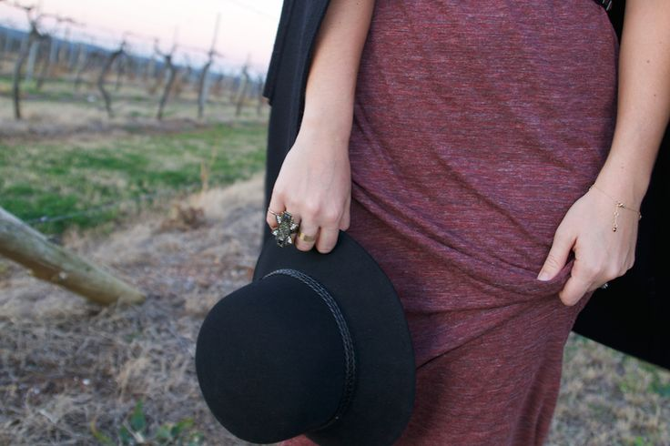 Escape Button Travel and Fashion blog: Hunter Valley Winter outfit post. Samantha Wills ring and Nine West fedora.