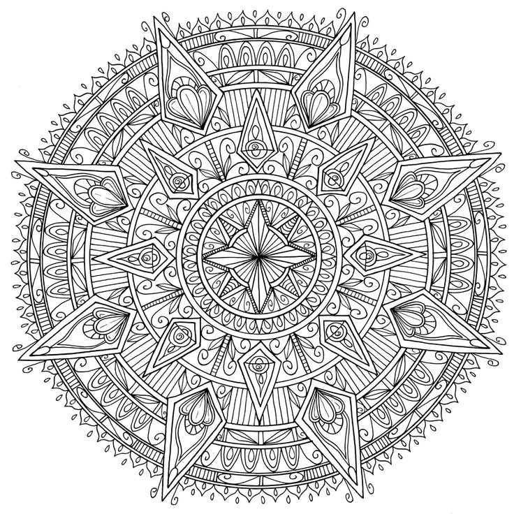 diamonds mandala by welshpixiedeviantartcom on deviantart mandala coloring pagesadult - Diamond Coloring Page
