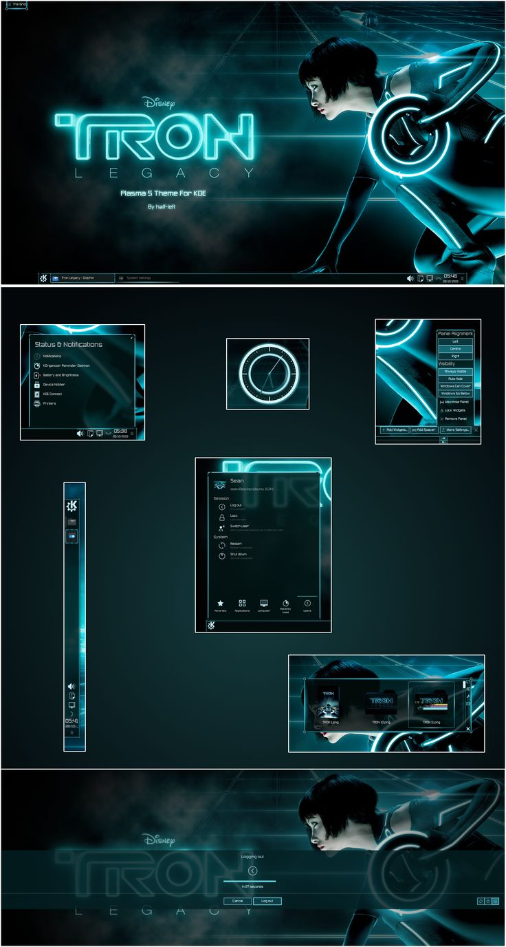 Tron Legacy For Plasma 5 by half-left theme wallpaper icons symbols logo website software game user interface gui ui | Create your own roleplaying game material w/ RPG Bard: www.rpgbard.com | Writing inspiration for Dungeons and Dragons DND D&D Pathfinder PFRPG Warhammer 40k Star Wars Shadowrun Call of Cthulhu Lord of the Rings LoTR + d20 fantasy science fiction scifi horror design | Not Trusty Sword art: click artwork for source