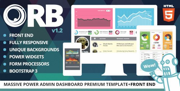 ORB - Powerful Admin Dashboard + FrontEnd