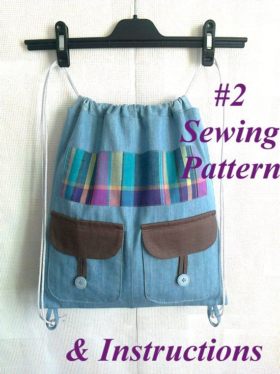 Backpack pattern pdf Beginner sewing by Bagsandclothingstore, $5.00