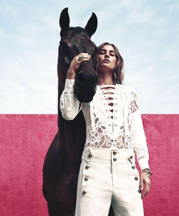 Harper's Bazaar Editorial March 2015 - Nadja Bender by Camilla Akrans