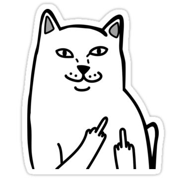 Middle Finger Cat by tendro