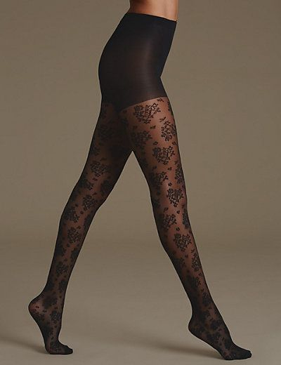 Floral Cluster Bodyshaper Tights | M&S