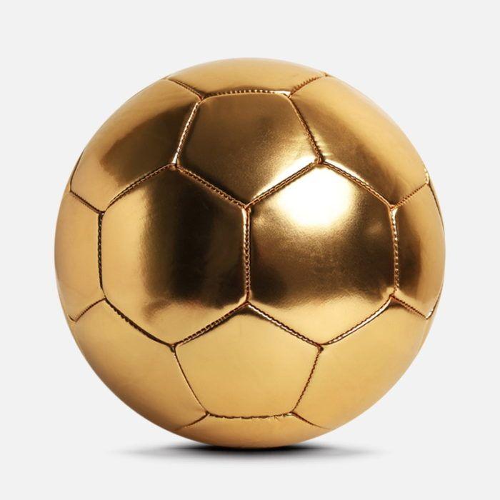Shiny Gold Metallic Soccer Ball Football Soccer Ball Soccer Ball