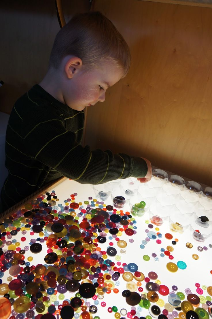 Playful Learning in the Early Years: Buttons on the Light Table
