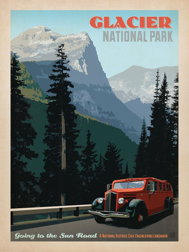Marvelous Vintage National Park Posters Part - 8: Anderson Design Group Studio, Glacier National Park, Montana. Vintage  National Park PostersGlacier ...