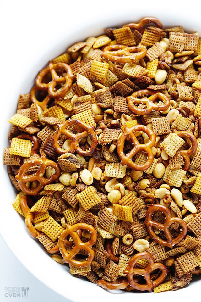 "The Recipe: ""I've long been a fan of making my favorite Extra-Bold Chex Mix recipe in the microwave, but this crock-pot method seemed too tempting not to try,"" says Ali Martin of Gimme Some Oven,..."