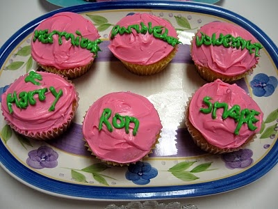 Hagrid's birthday cup cakes