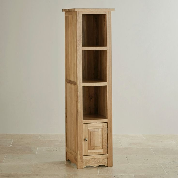 Cairo Natural Solid Oak Slim Tall Bookcase