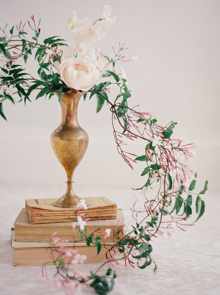 Flowers - Styling - Honeysuckle - Wedding - Brass  Michele Beckwith Photography