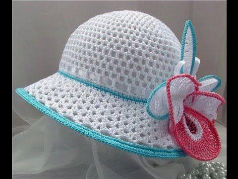 Вязание летней шляпы крючком - YouTube