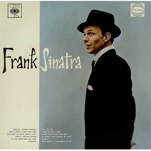 Frank Sinatra Frank Sinatra UK vinyl LP album (LP record) I like a lot the color behind Frank. It is moody and great.