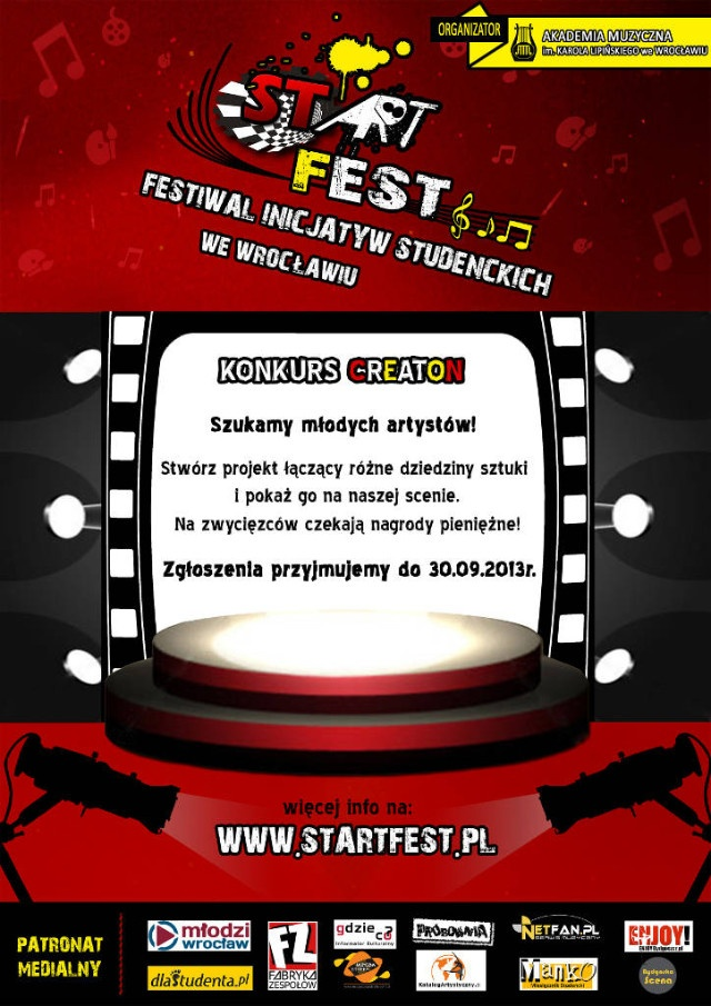 StArt Fest - Festiwal Inicjatyw Studenckich - Pod patronatem Gdzieco.pl