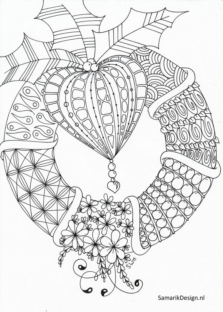 christmas art coloring pages - photo#36
