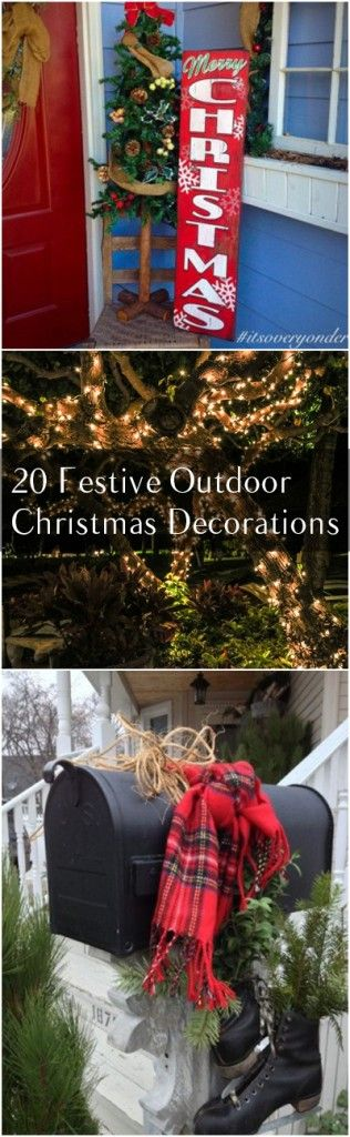 20 Festive Outdoor Christmas Decorations