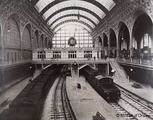 GARE D' ORSAY ~ When the MUSÉE d'ORSAY was the train station, la GARE d'ORSAY.