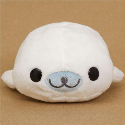 kawaii Mamegoma weiße Robbe Plüsch Tier von San-X 1