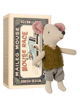 Mouse, Littlebrother in box from Maileg Stuffed Animals & More on Gilt