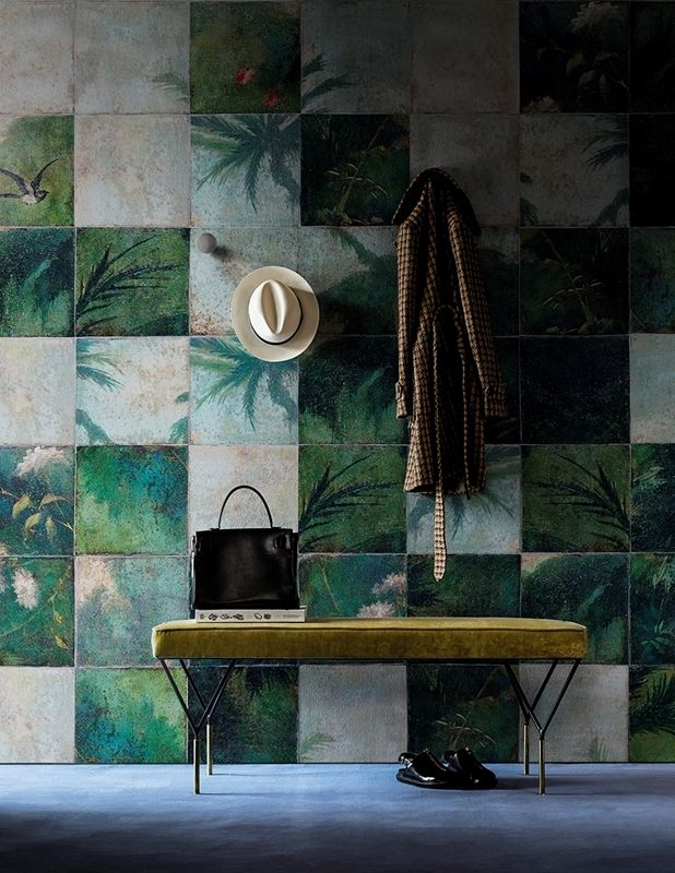 Wall & Decò - Contemporary wallpaper 2016 Exotic Damier room