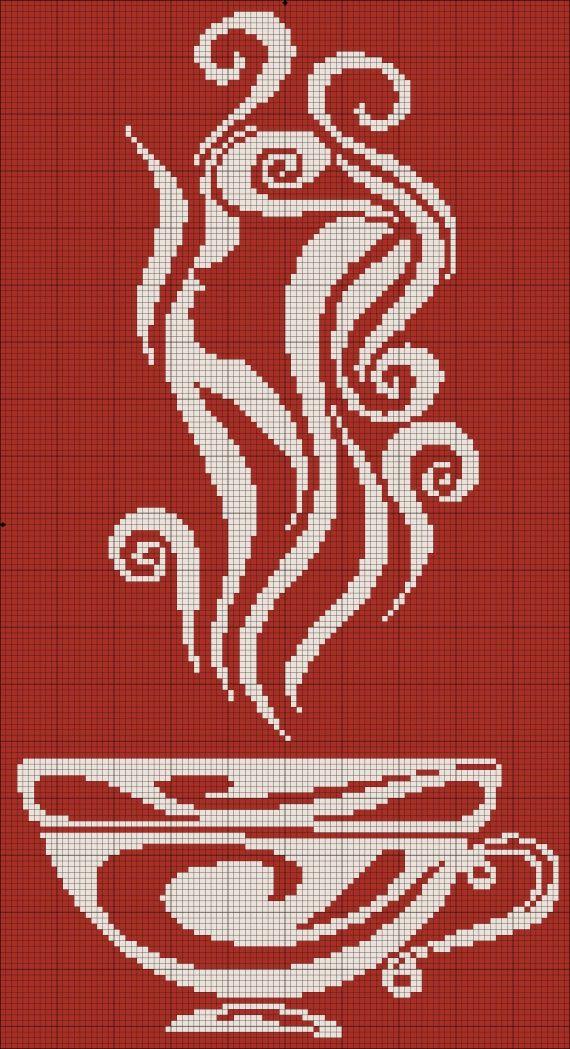 """Монохром. Серия """"Кофе"""" / Вышивка крестиком / PassionForum - мастер-классы по рукоделию"""