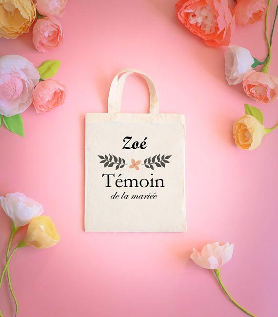 33cfa689de6a tote bag témoin - demoiselle d honneur- cadeaux témoin - idée cadeau-  mariage-my haru haru