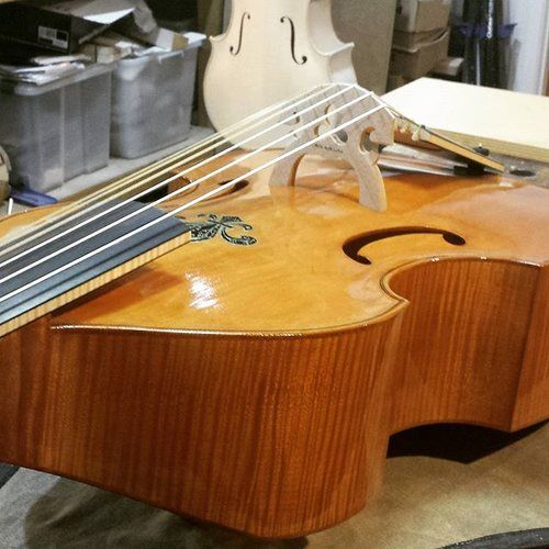 Bass Viola da Gamba I made this gamba quite a few years ago now. It remains one of my favorites. #violadagamba #baroque #gutstrings #spruce #maple #atelierphilipsmith #atelier #handmade #bespoke #luthier #violinmaker #salamancaartscentre #hobart #tasmania