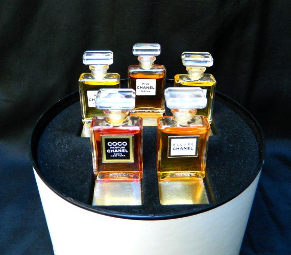 Rare Vintage Chanel Gift Set   5 Crystal Perfume by ODONA on Etsy, $155.00