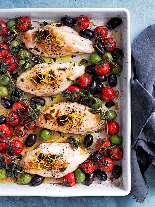 Tray Baked Chicken With Tomato And Olives | Donna Hay