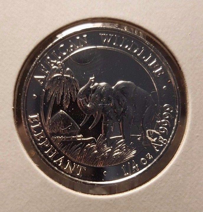 1/4oz African Wildlife Elephant Coin, .999 Fine Silver, Somali Republic 25 Sch | eBay