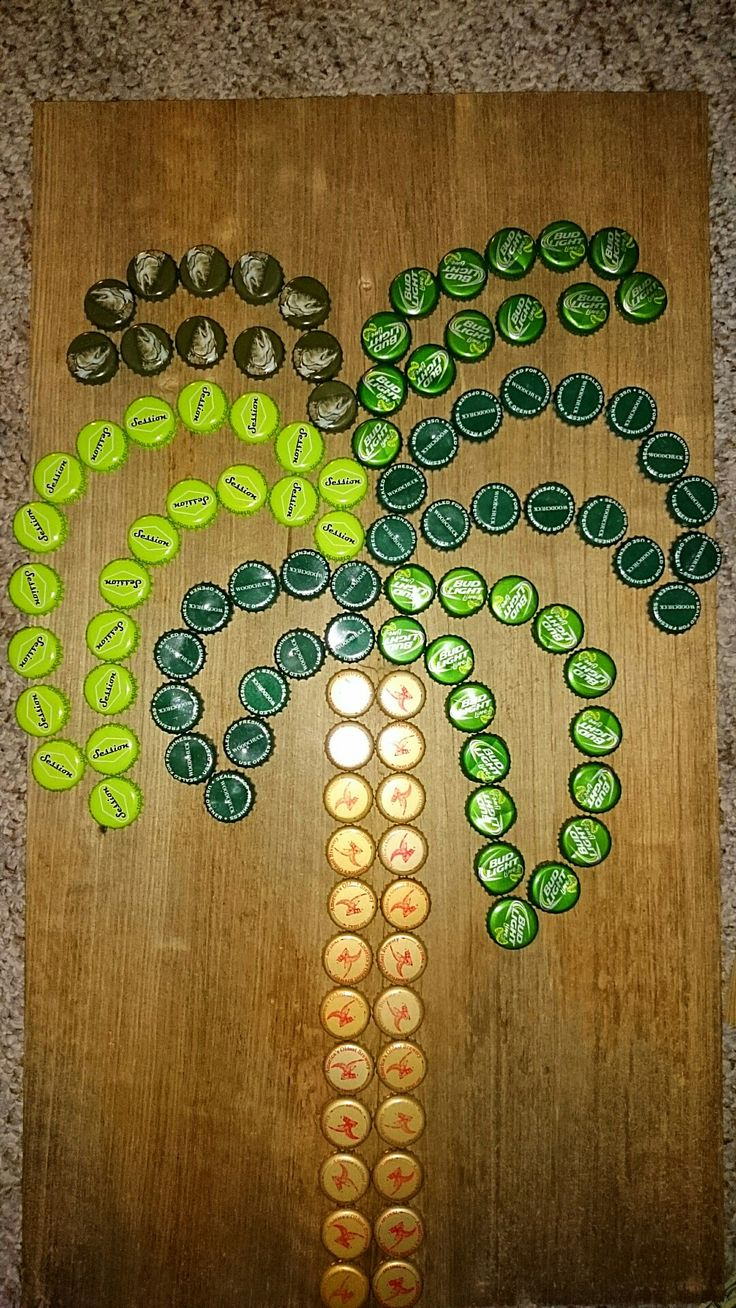 Extra Lg. Bottle Cap Palm Tree wall art