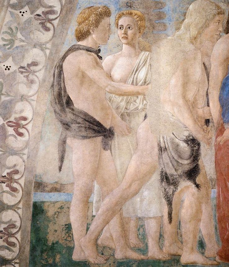 PIERO DELLA FRANCESCA - (1415 - 1492) - The Death of Adam (detail). Fresco. 390 x 747 cm (full painting). San Francesco, Arezzo, Italy.