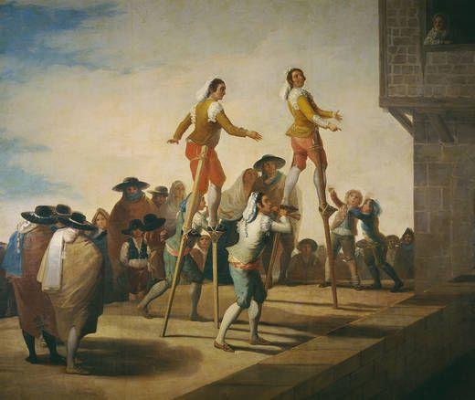 Los zancos. Goya