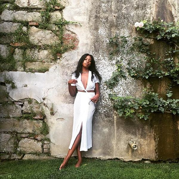 31 Flawless Outfits To Copy This August #refinery29  http://www.refinery29.com/august-outfit-of-the-day-ideas#slide-4  Midi skirts can elevate any look, while a tie-up top brings things back down to Earth (or the beach, really)....