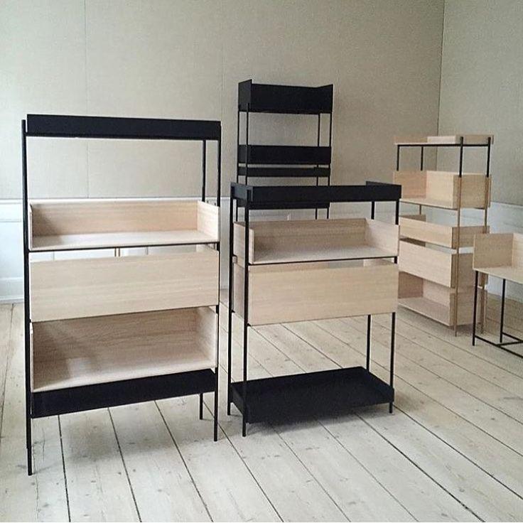 Vivlio Shelving system design by Halstrøm/Odgaard
