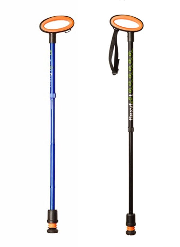 Image of Flexyfoot Folding Walking Stick With Oval handle
