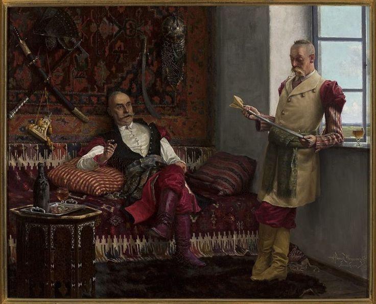 Scena szlachecka - Historia jataganu, Henryk Weyssenhoff
