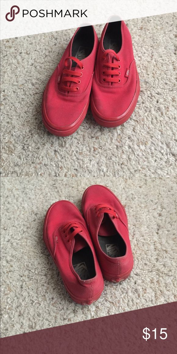vans rojas mujer