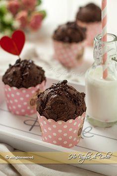 Muffins al cioccolato senza uova e burro ricetta