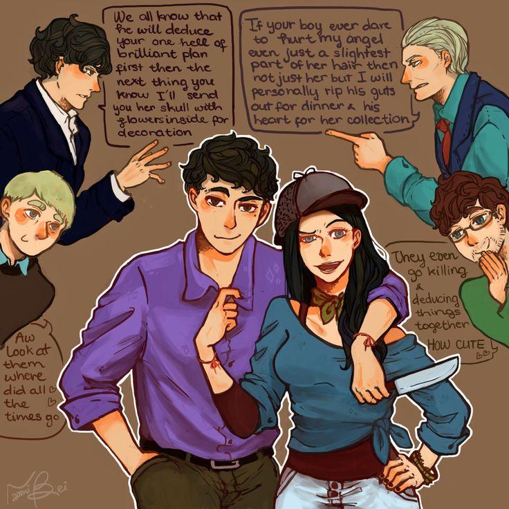 Hamish/Abigail by naomibei.deviantart.com on @deviantART   Ahhh a Hannigraham/Johnlock crossover?!?! I love this.