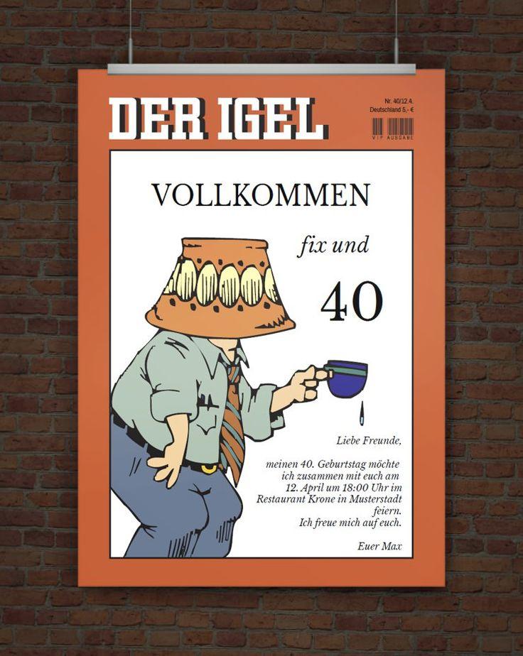 Fix Und 40   Einladung Zum 40. Geburtstag