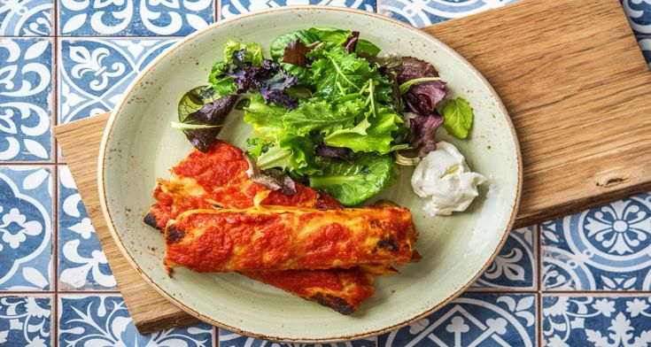 Chicken & Capsicum Enchiladas Recipe | HelloFresh