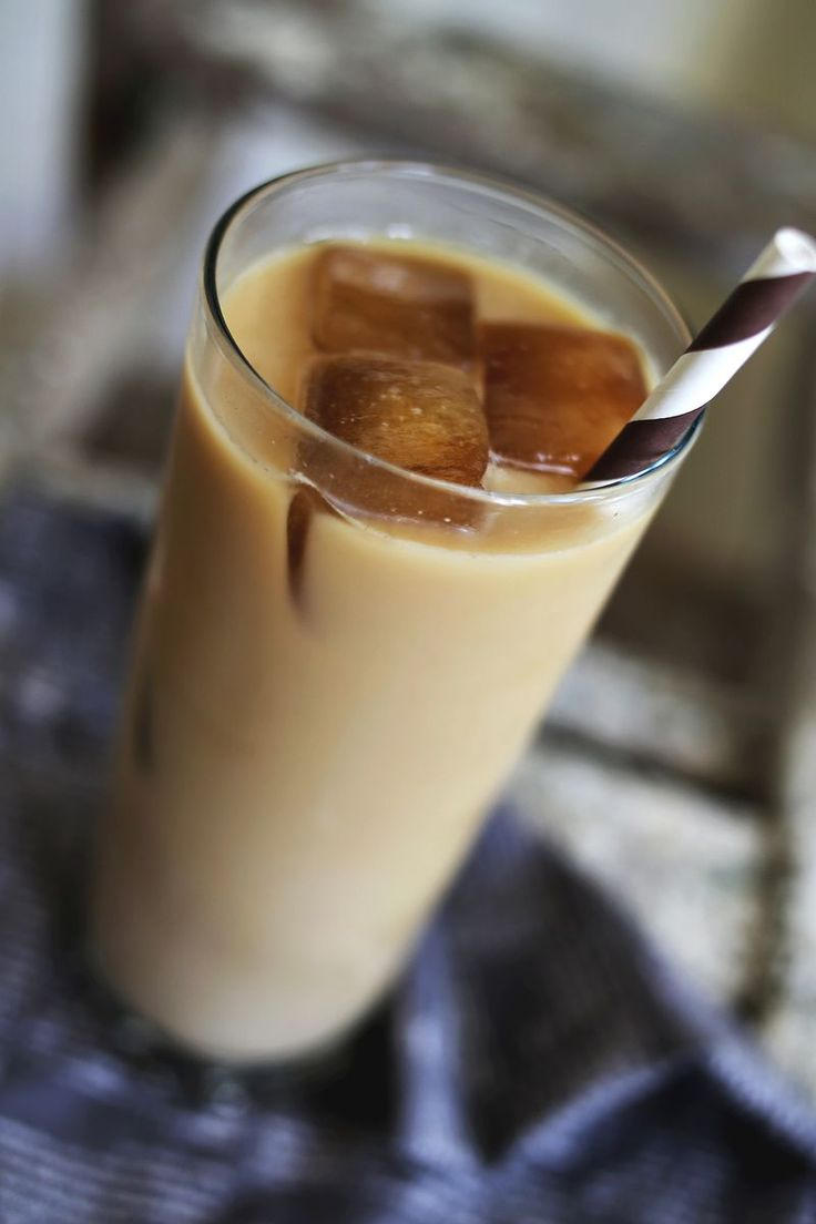 Lavender iced coffee