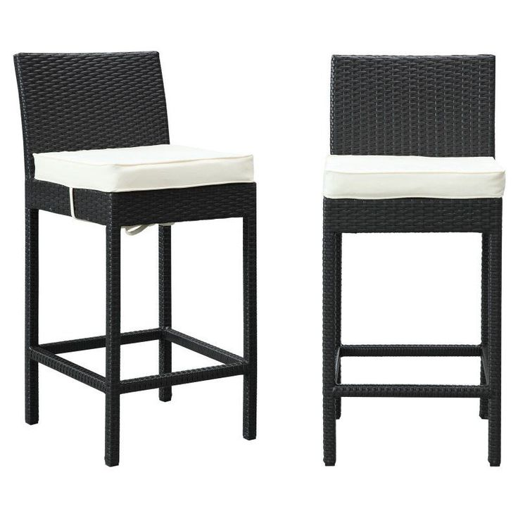 Modway Lift Outdoor Patio Bar Stool   Set Of 2   EEI 1281 EXP WHI