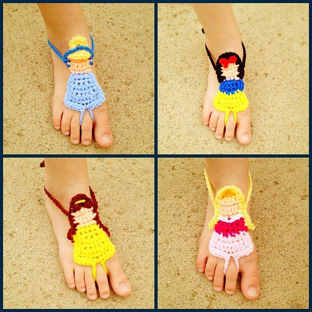 Princess Barefoot Sandals Crochet Pattern