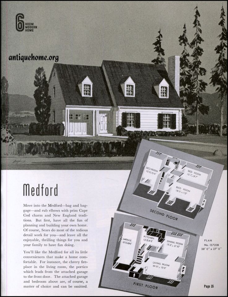 Vintage sears house plans for American kit homes